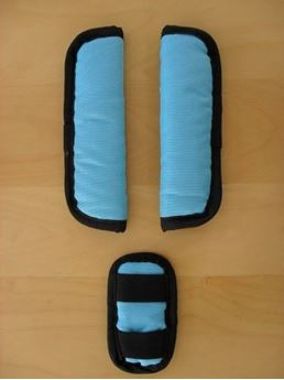 Picture of CROOZER KID FOR 1 & 2 HARNESSPAD SET TILL MODEL 2013 ICE BLUE