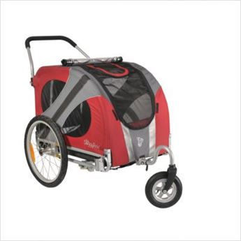Afbeelding van DOGGYRIDE NOVEL BUGGY (SWIVEL WHEEL) ROOD