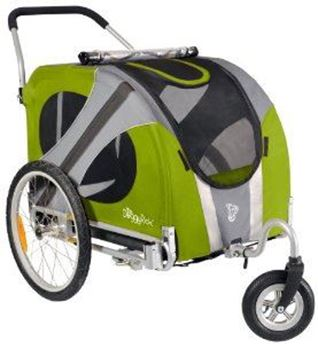 Afbeelding van DOGGYRIDE NOVEL BUGGY (SWIVEL WHEEL) GROEN