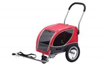 Picture of DOGGY TRAILER MINI ROOD/ANTRACIET INCLUSIEF WANDELSET